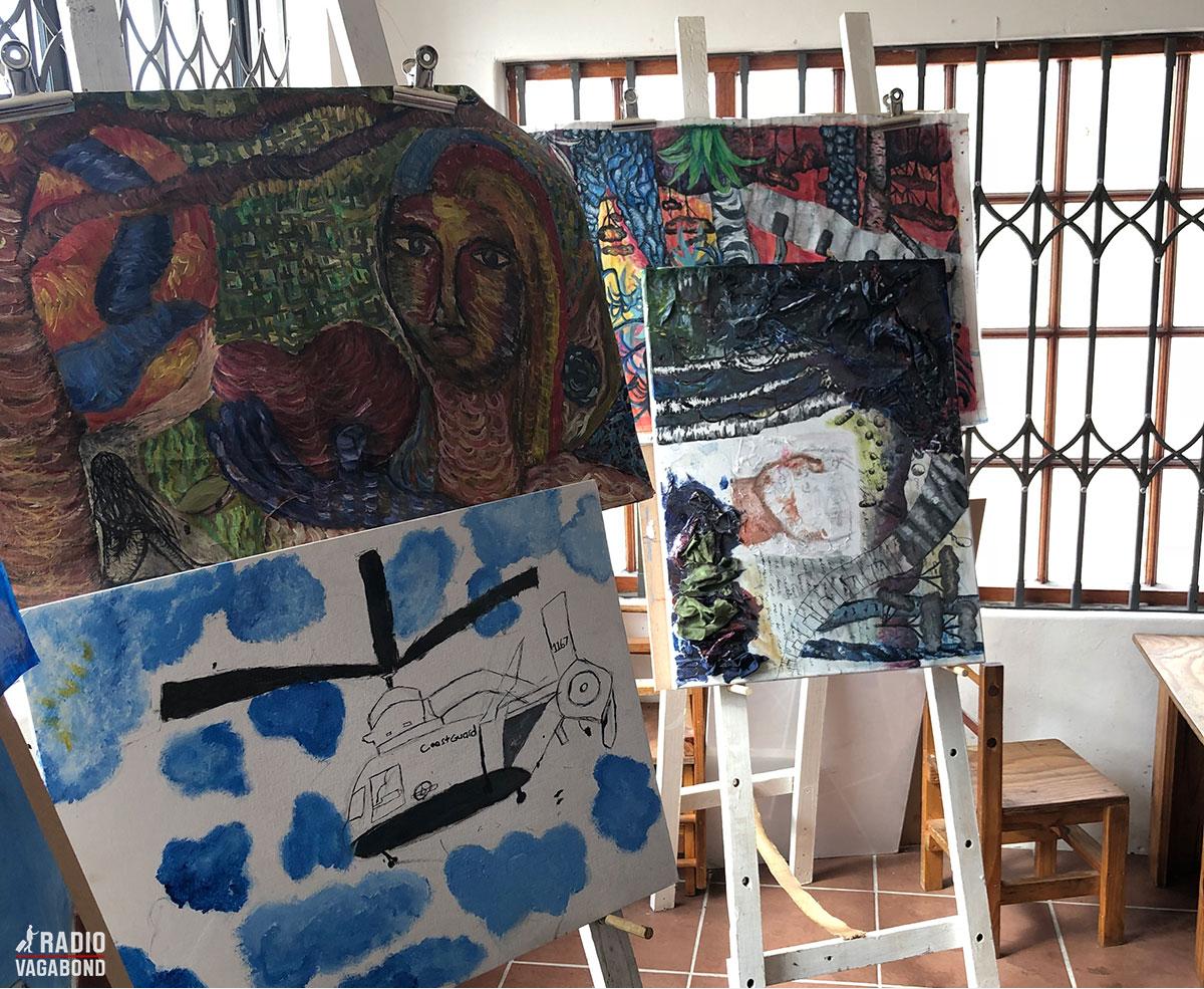Der er også et kunstværksted i Vulamasango.