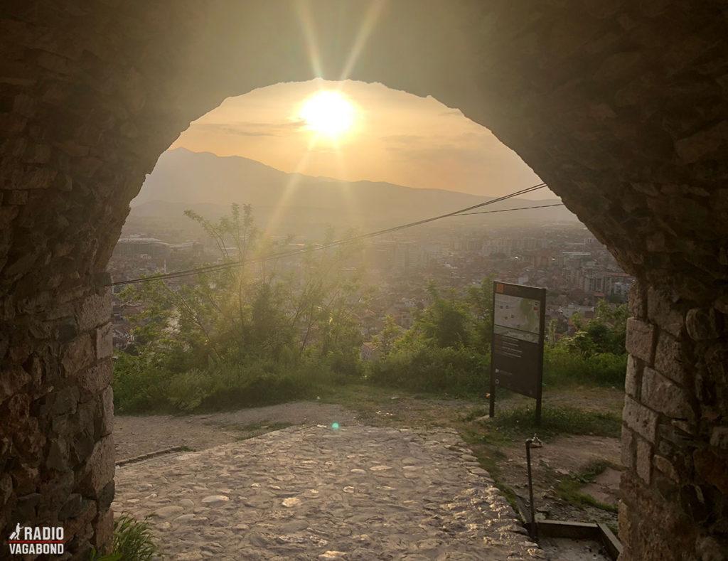 Solnedgang ved Prizren Fortress