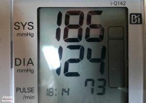 I et par uger har jeg haft fornemmelsen af, at mit blodtryk pludselig var meget højt.
