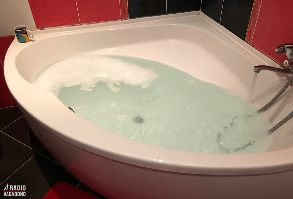 Badekar i Airbnb