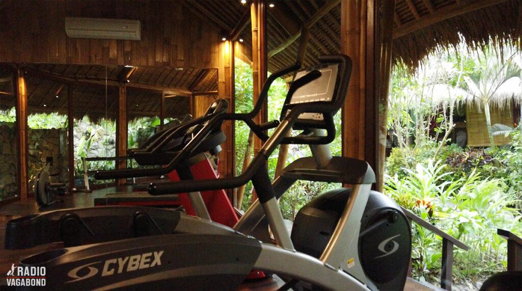 Der er også en lille gym med udsigt til junglen