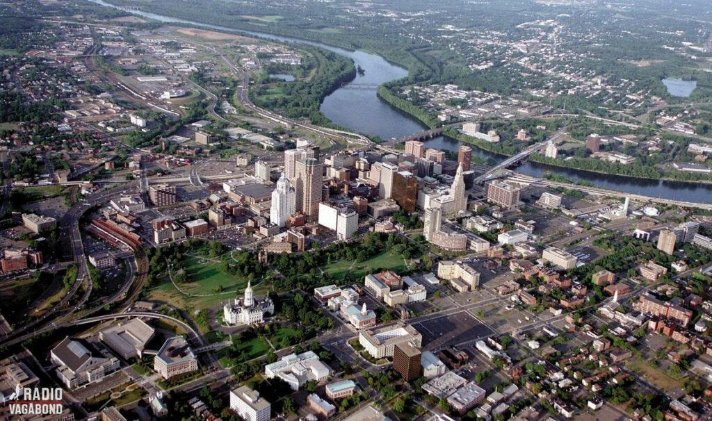Hartford (set fra luften) er en af de ældste byer i USA
