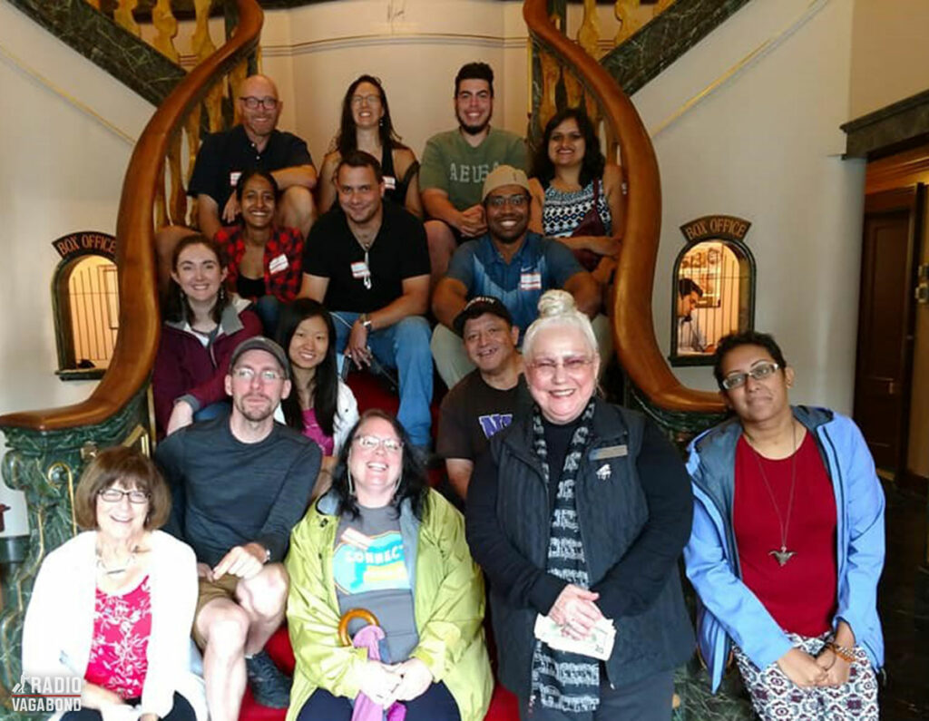 Another Couchsurfing group photo – this one at Godspeed Opera House.