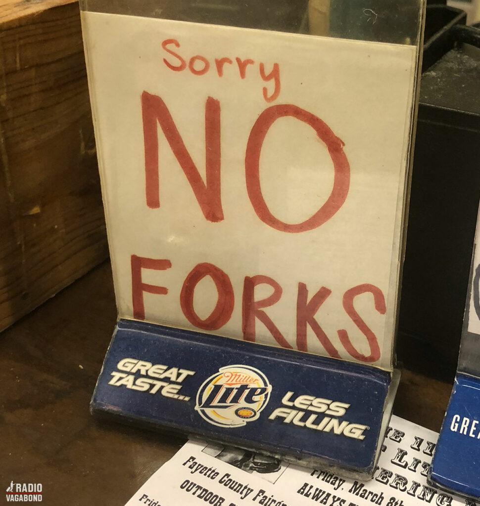 De bruger heller ikke gafler