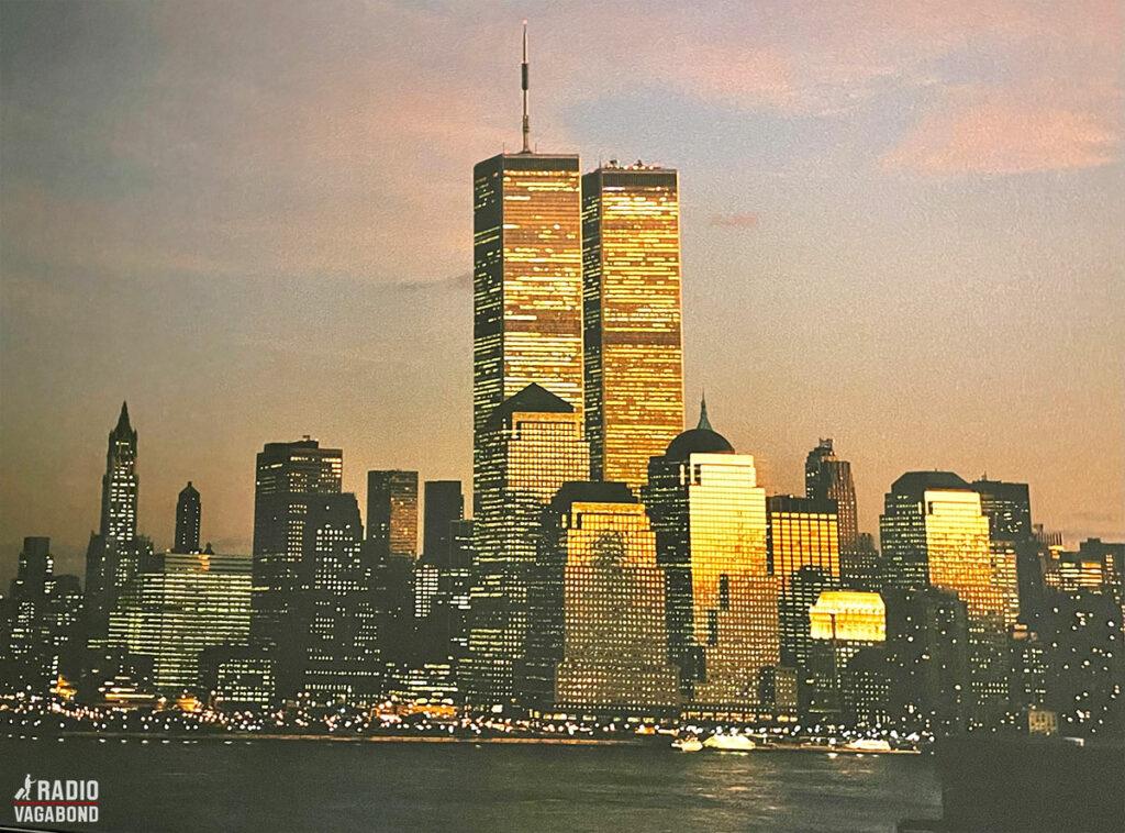 Manhattan skyline minutter før angrebet.