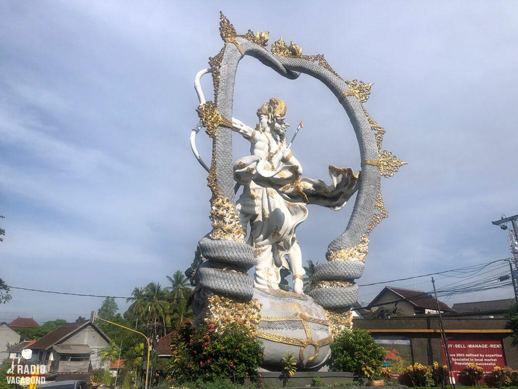 Vi kom blandt andet forbi den berømte Ajuna Statue i Ubud