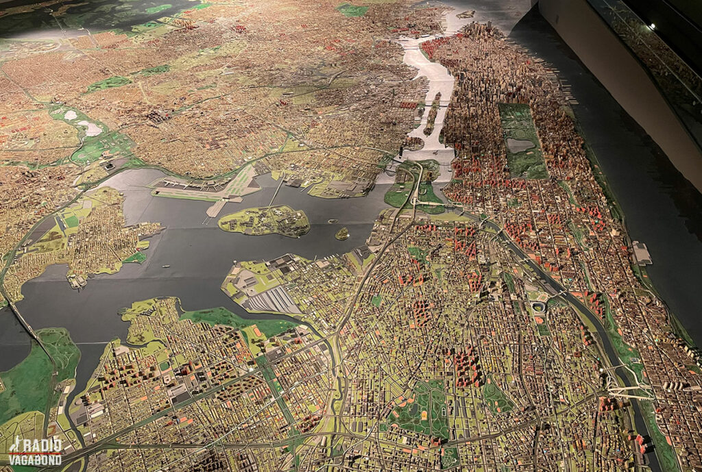 The Panorama er en meget imponerende og detaljeret model af hele New York-området med gader og bygninger.