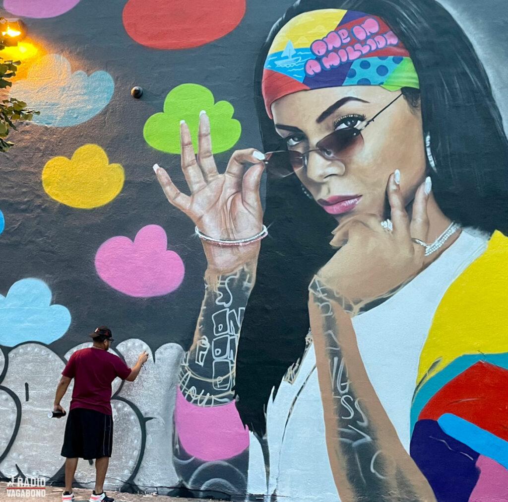 Gadekunst i Bushwick, Brooklyn.